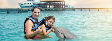 Isla Mujeres-Royal Garrafon+Dolphin Encounter