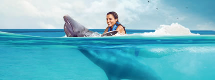 Isla Mujeres-Royal Garrafon+Dolphin Swim Adventure